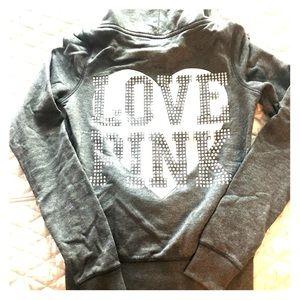 Victoria's Secret PINK Bling grey hoodie